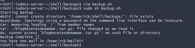 Backup Wordpress Script