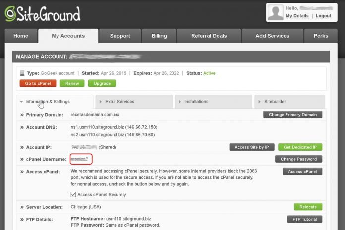 How to log in to my SiteGround shared account via SSH using PuTTY
