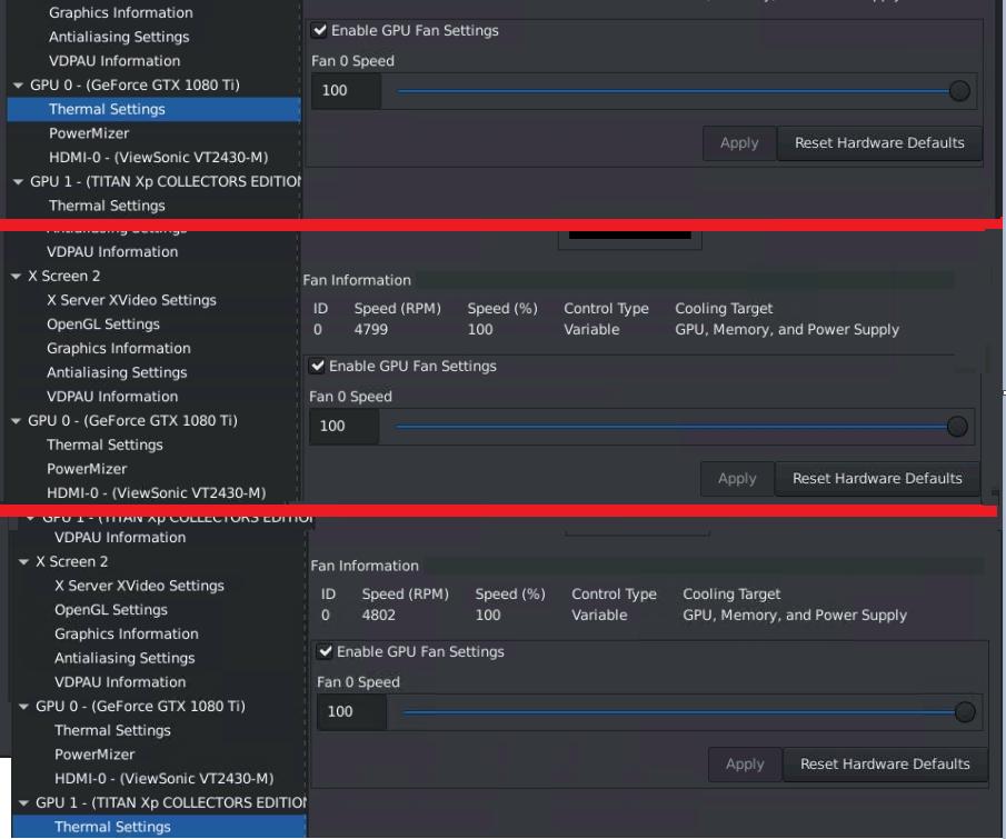 nvidia-settings fan speed tested on